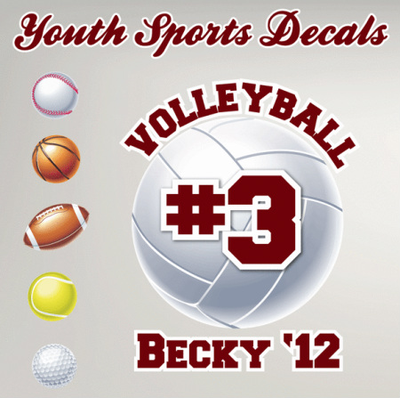 Youth Sports Decals - Window decals for sports